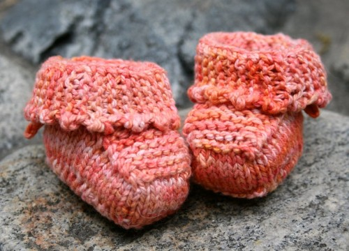 Tied Picot Booties