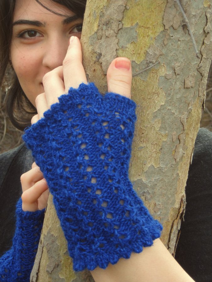 Veronica&#039;s Fingerless Mitts Primary