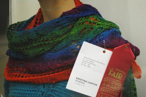 Hand-knit Stole/Wrap