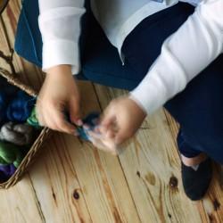 Blur knitting